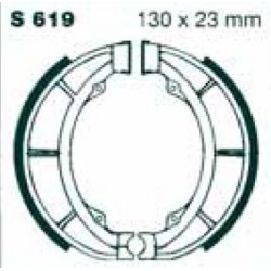 Mâchoires de frein AR. PE 175 1980-1984