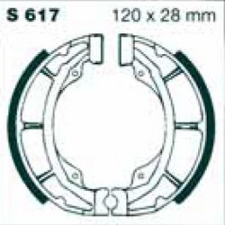 Mâchoires frein Arrière RM 125 1979/1980
