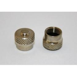 Bouchons de valve nickelé
