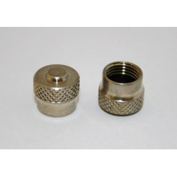 Bouchon de valve nickelé