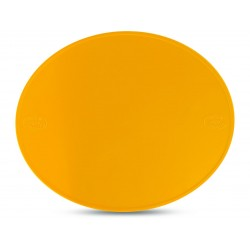 Plaque à numéro Preston ovale jaune
