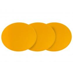 3 Plaques à numéro Preston ovale jaune