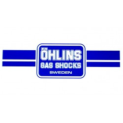 Autocollant Ohlins bleu 1985-1988