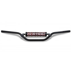 Guidon Renthal Cross/Enduro noir Haut-120mm