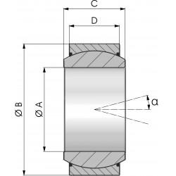 Rotule 15x25x13/12 Ohlins Remote & Piggy